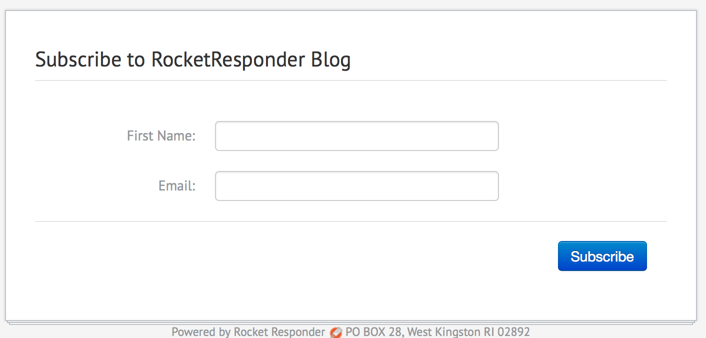 Subscribe to RocketResponder blog list screenshot
